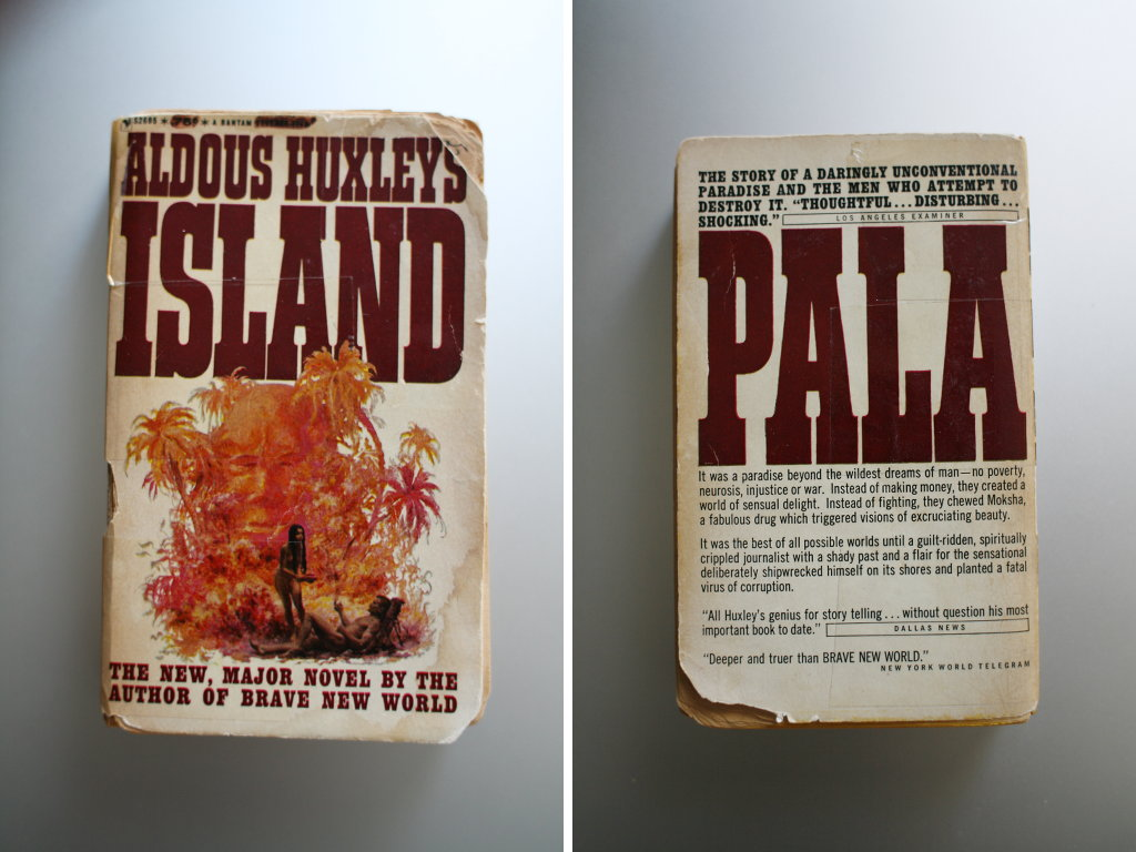 Aldous Huxley - Island. This pocket is from 1963. Photo: Sanjin Đumišić.