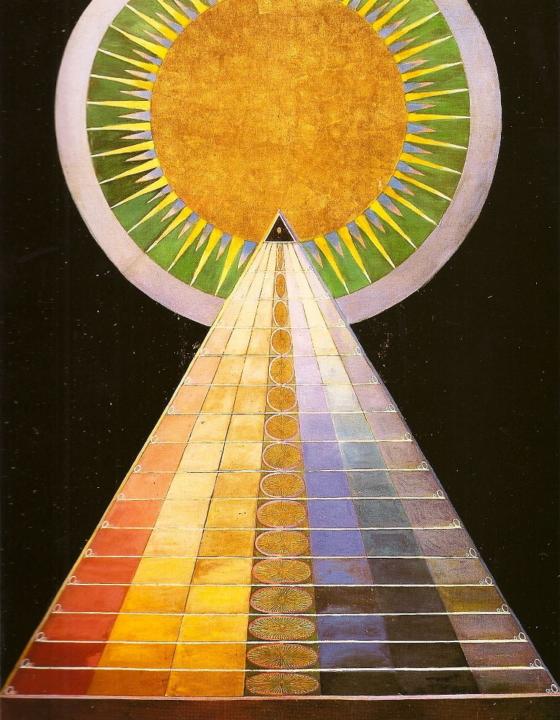 Hilma af Klint utställning på Museo Picasso Málaga