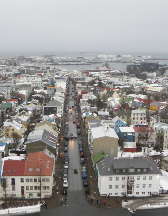 Reykjavik and Iceland in winter
