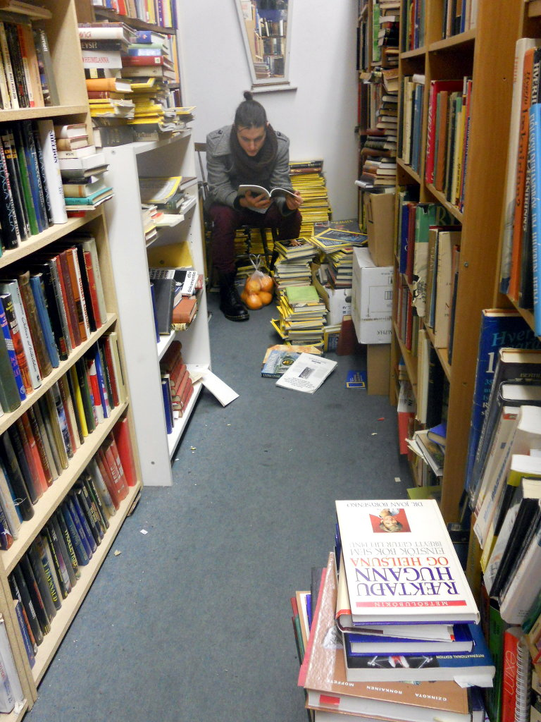 Excellent bookstore in Reykjavík and sweet oranges. Photo: Lisa Sinclair.