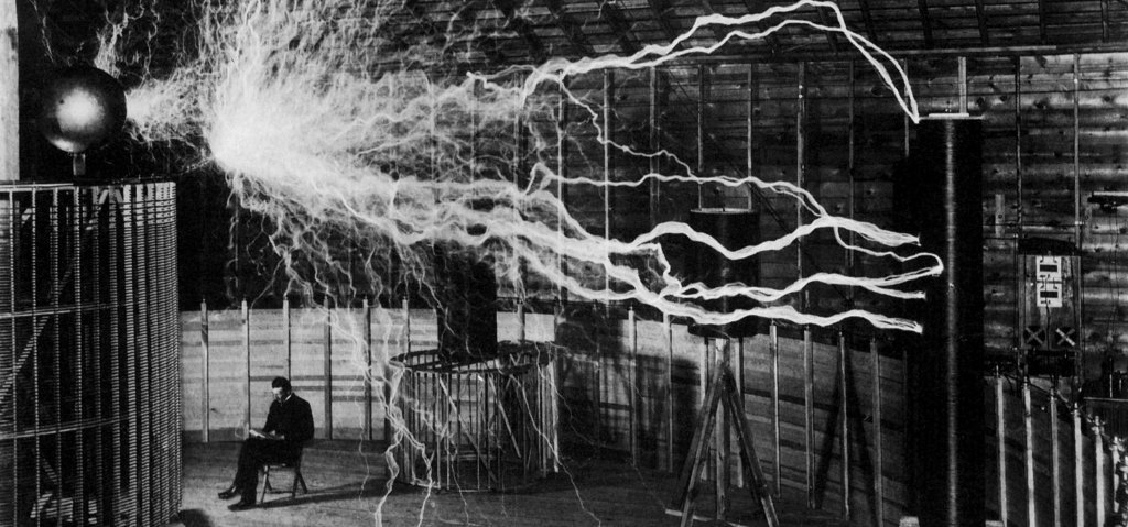 Nikola Tesla Laboratory Photograph.