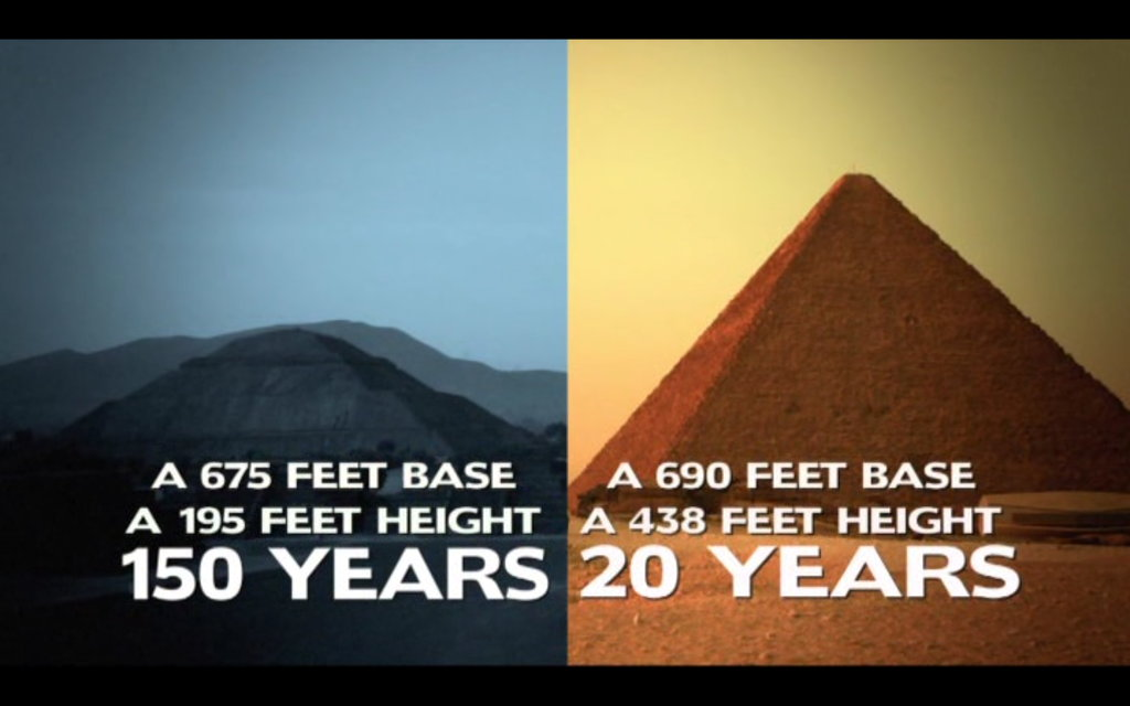 The Revelation Of The Pyramids - Mainstream theory on construction.