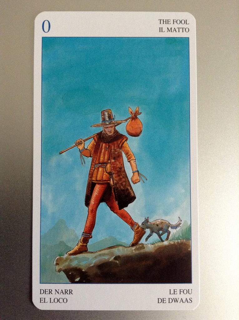 Tarot Card - The Fool. Secret Tarot deck.