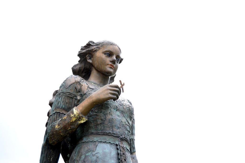 Angel statue in Sel. Photo: Sanjin Đumišić.