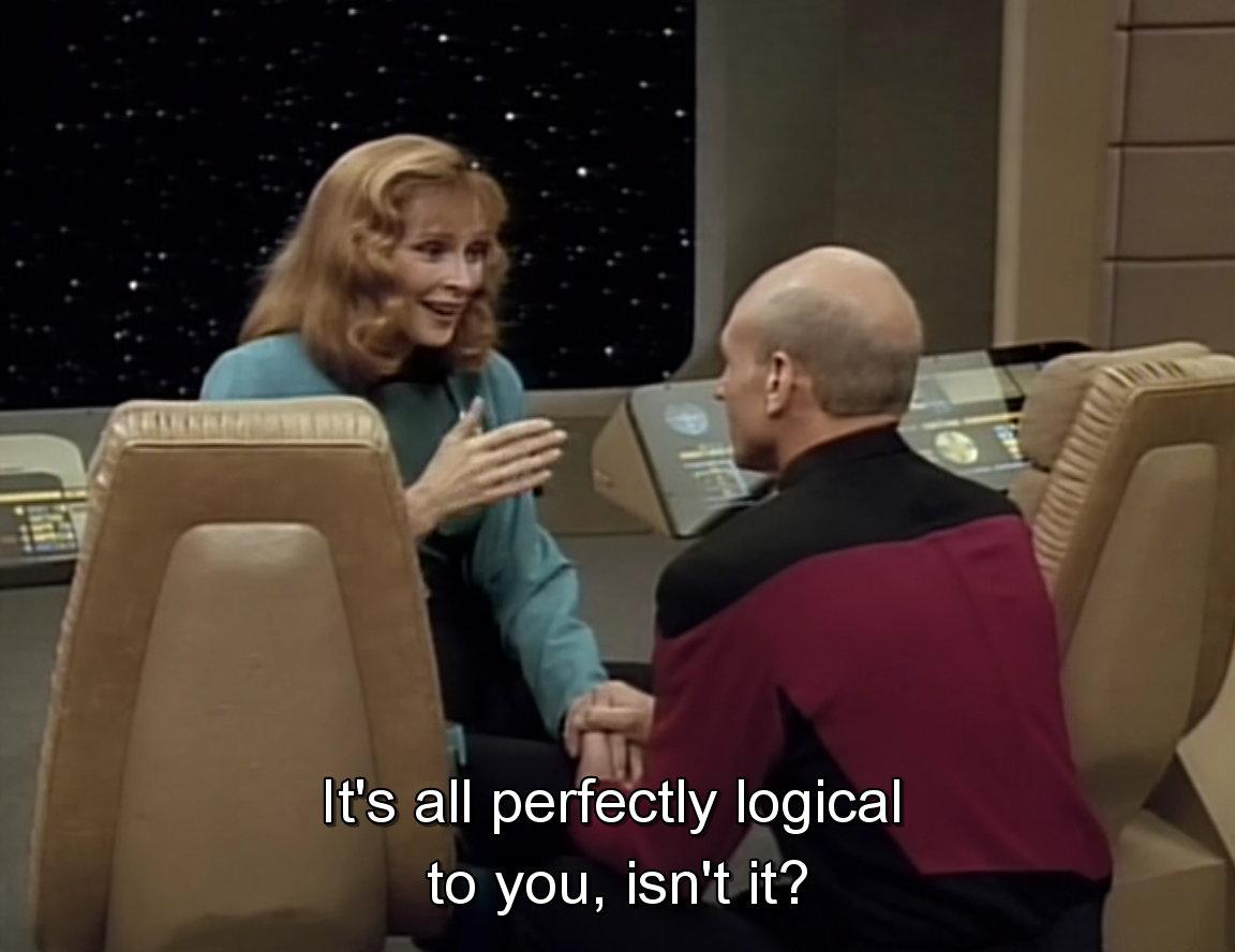 Doctor Beverly Crusher of the Star Trek TNG - Meme.