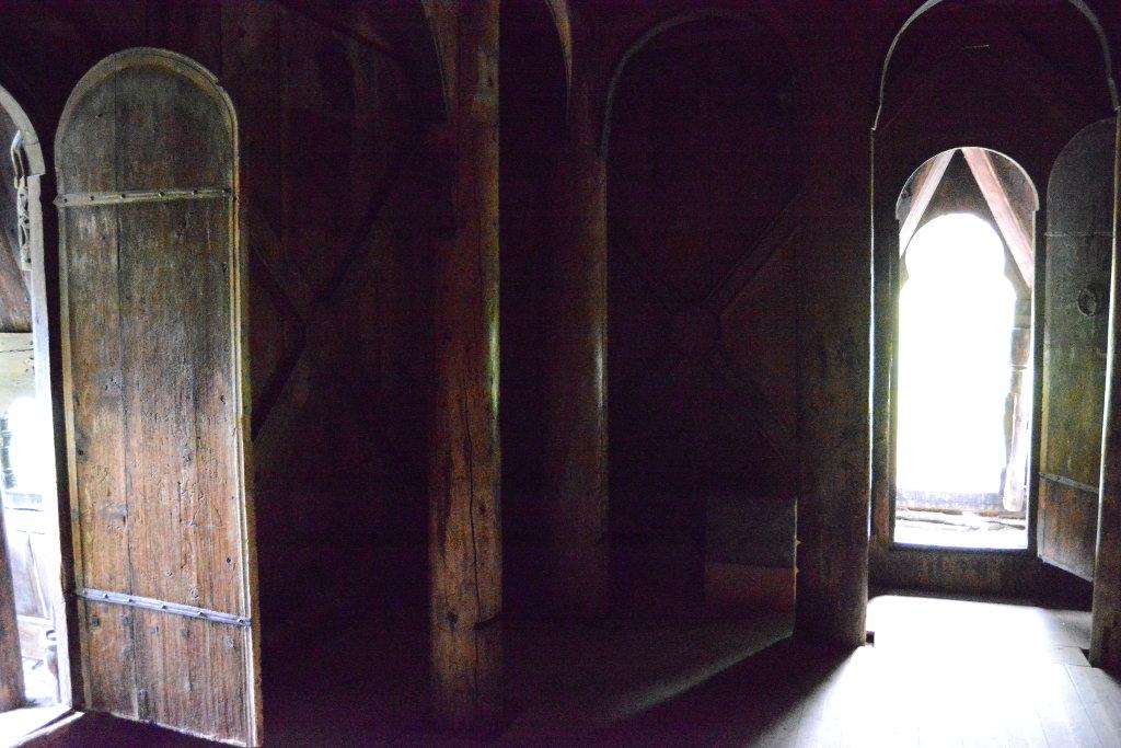 Inside Borgund Stave Church. Photo: Sanjin Đumišić.