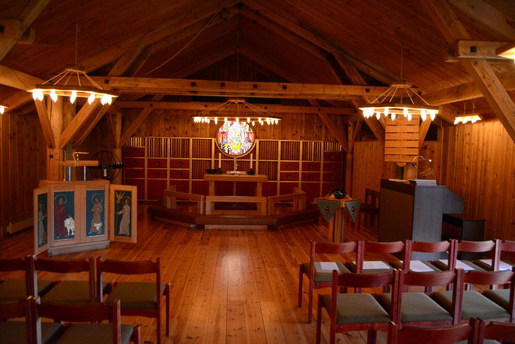 Inside the small church in Venabu. Photo: Sanjin Đumišić.