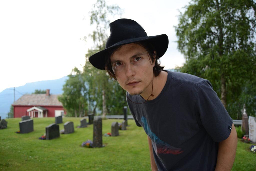 Self portrait in the Graveyard.