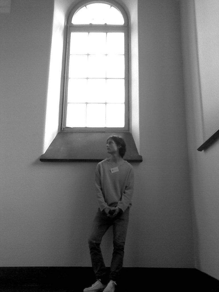 Self portraits at work in Röhsska Museum 2007-2008. Photo: Sanjin Đumišić.