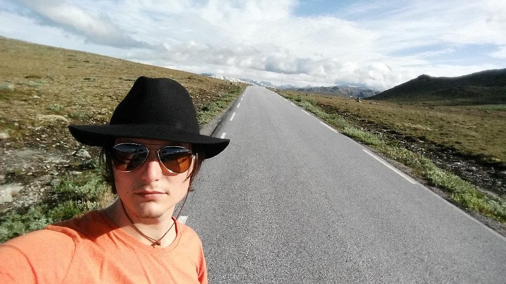 Mountain road selfie.
