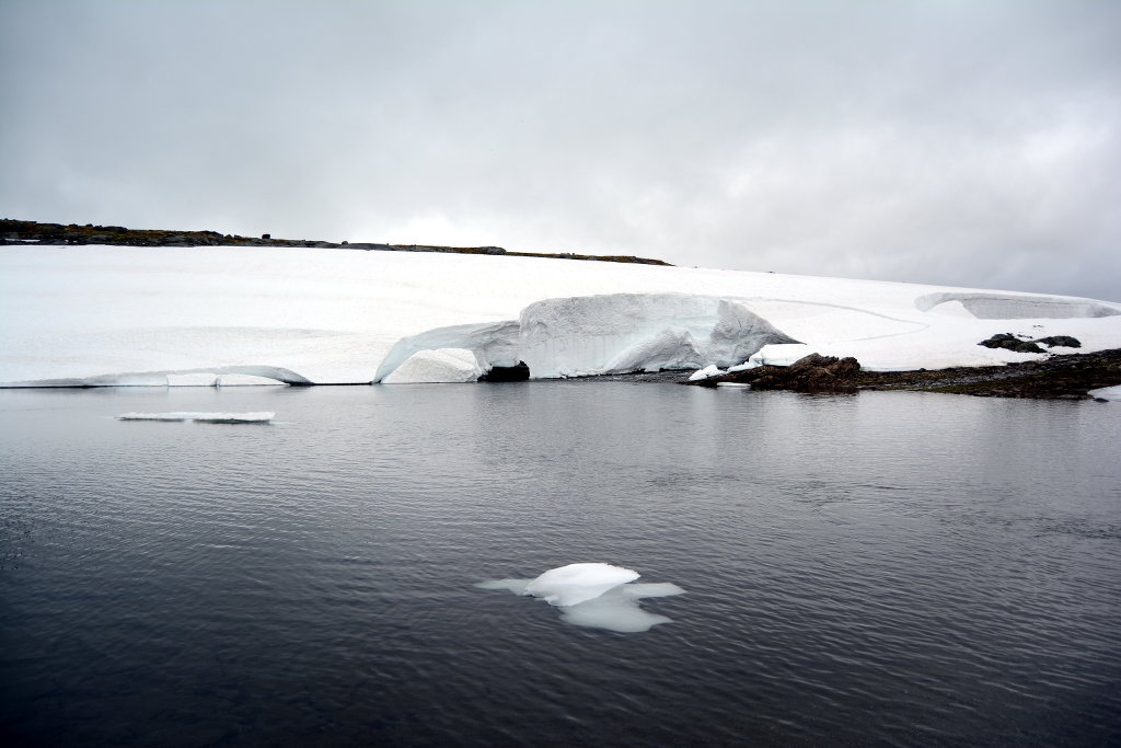 Water and smaller iceberg in Sognefjell. Photo: Sanjin Đumišić.