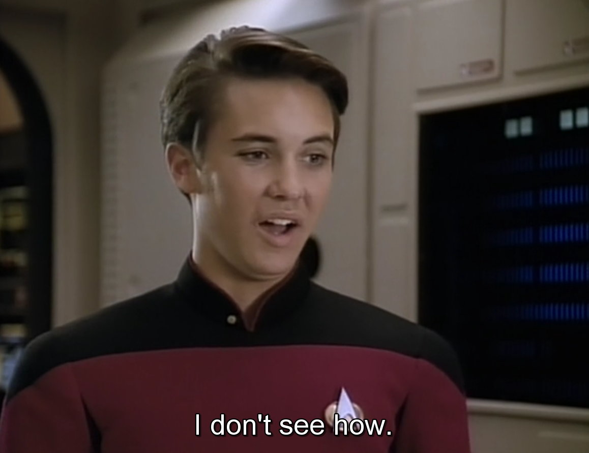the gallery for gt wesley crusher meme