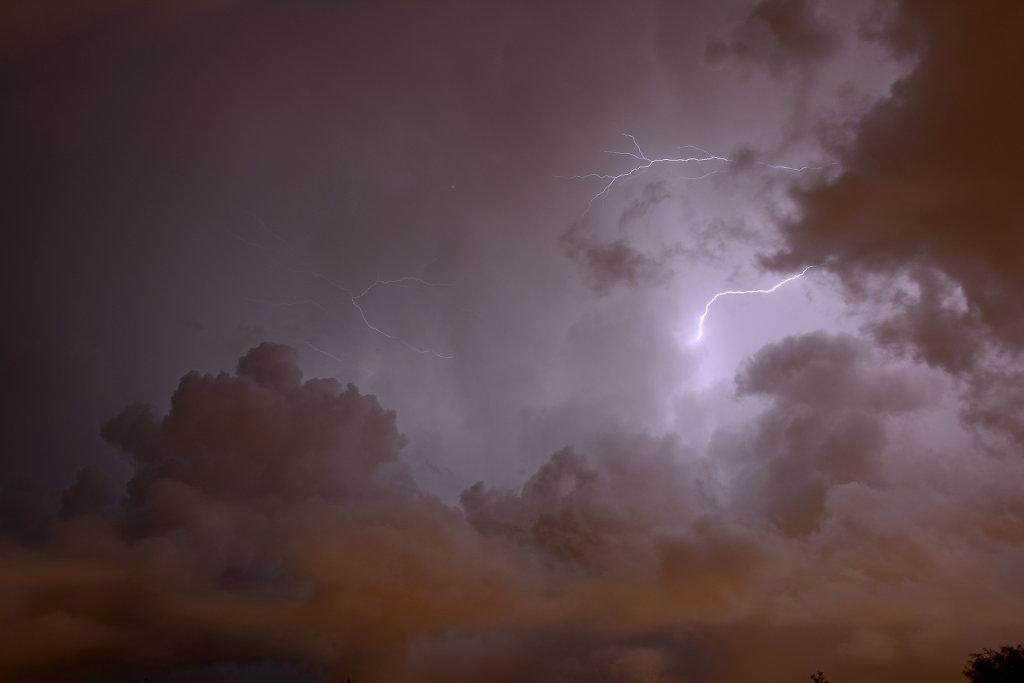 Ligthning and thunder over Mölndal. Photo: Sanjin Đumišić.