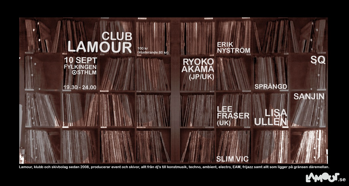 Club Lamour at Fylkingen in Stockholm 10th of September 2014.