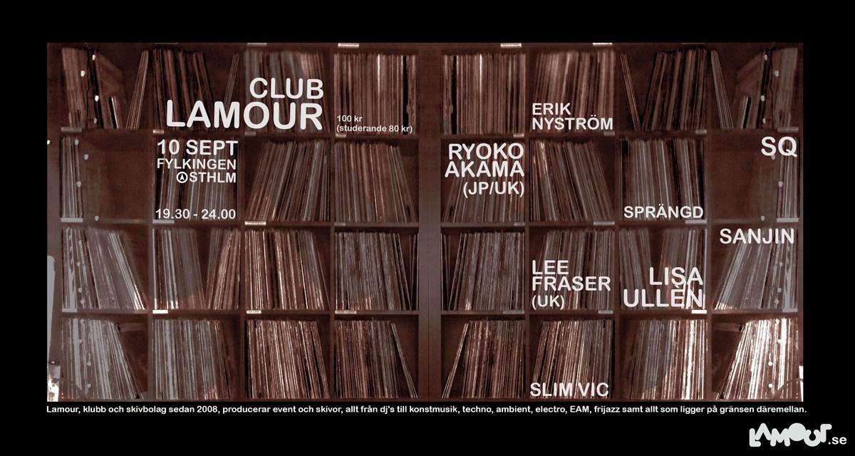 Club Lamour at Fylkingen in Stockholm 10th of September 2014.