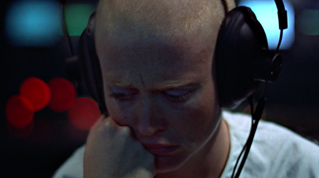 Maggie McOmie in the sci-fi film THX 1138