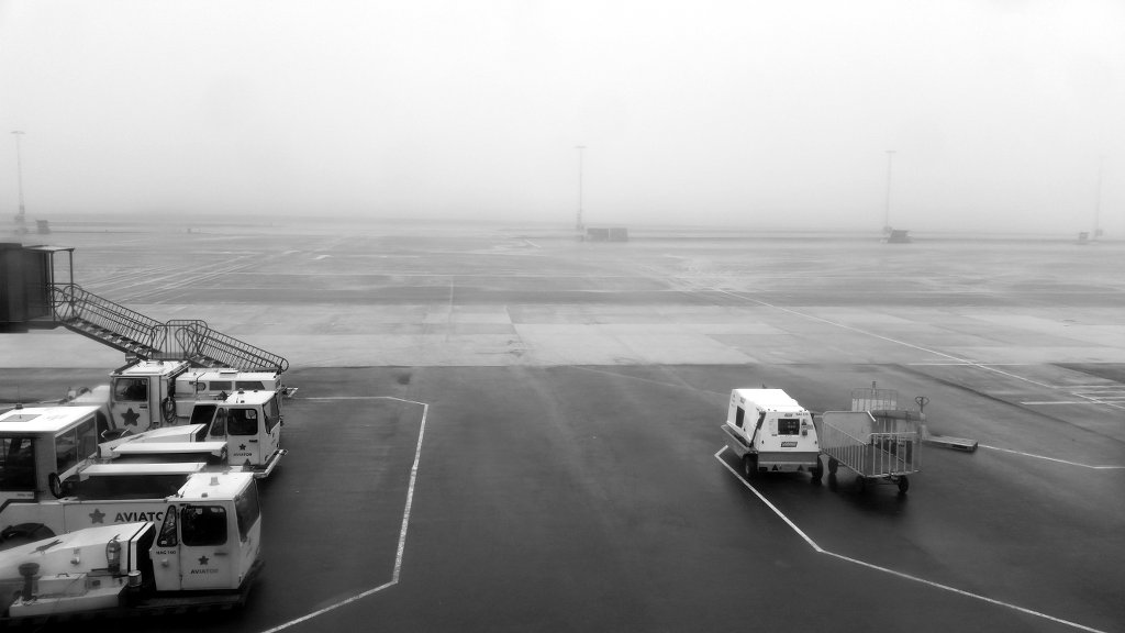 Foggy Landvetter airport. Photo: Sanjin Đumišić.