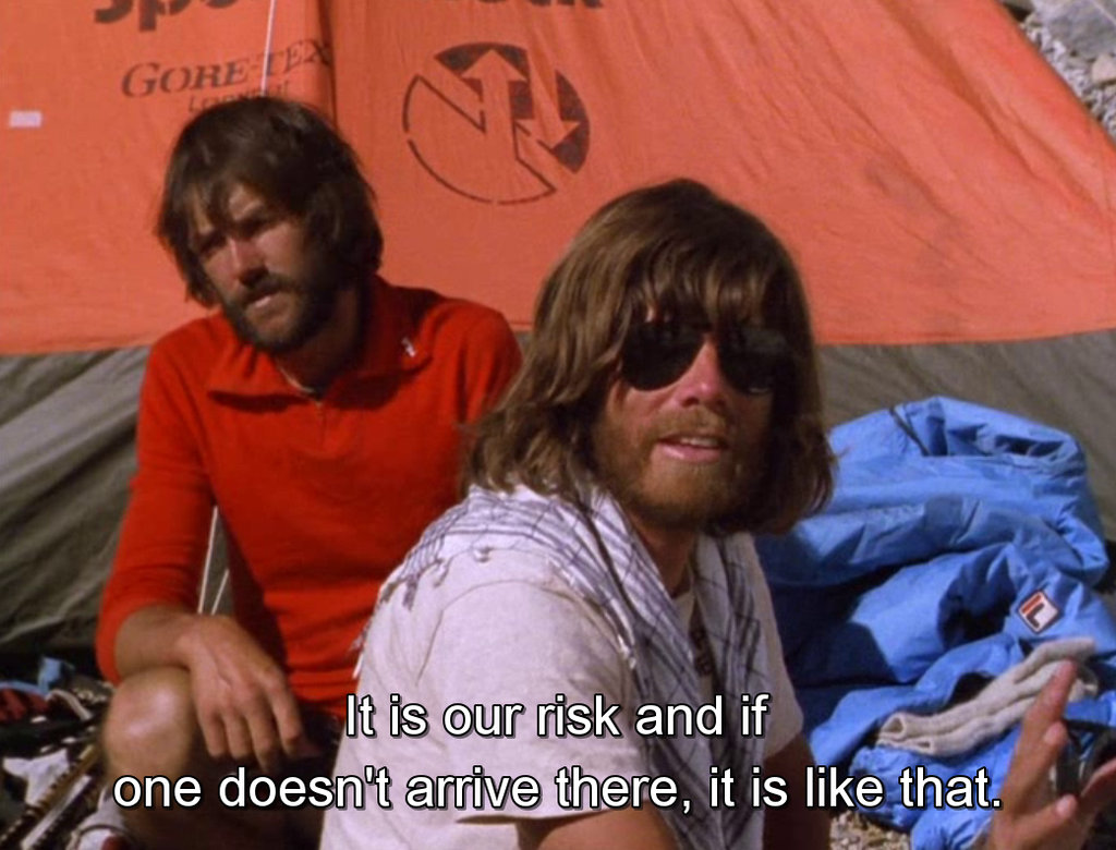 Reinhold Messner & Hans Kammerlander in Werner Herzog's cinematic world.