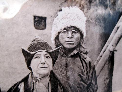Lama Yongden och Alexandra David Néel.