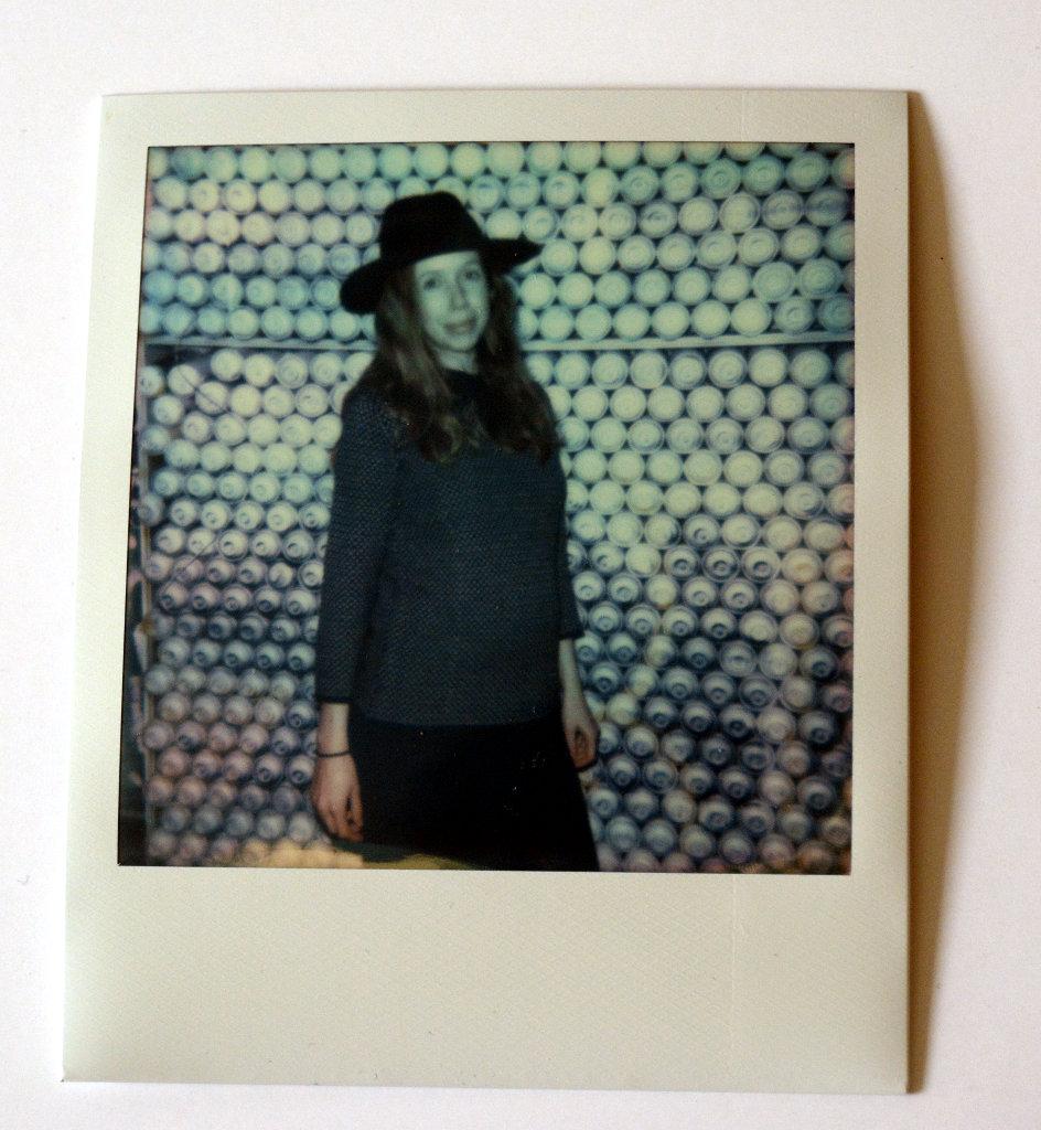 Lisa with my hat. Photo: Sanjin Đumišić.