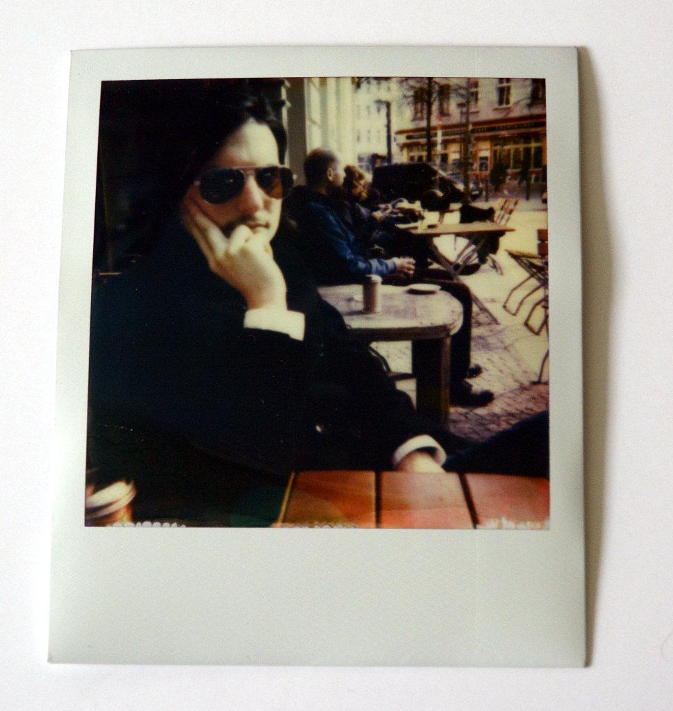 Sanjin in a Berlin cafe. Photo: Lisa Sinclair.