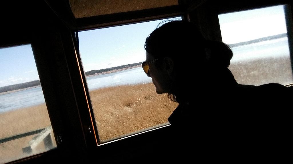 Sanjin Đumišić watching birds.