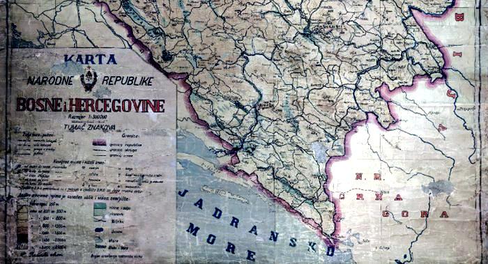 Bosnia & Herzegovina, Sutorina map.