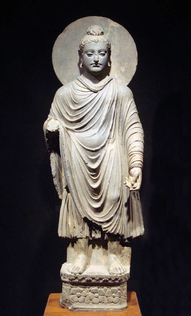 Gautama Buddha in Greco-Buddhist style, 1st-2nd century CE, Gandhara (modern eastern Afghanistan).