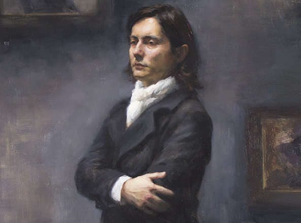 Portrait of Sanjin by artist Stephanie Kullberg.
