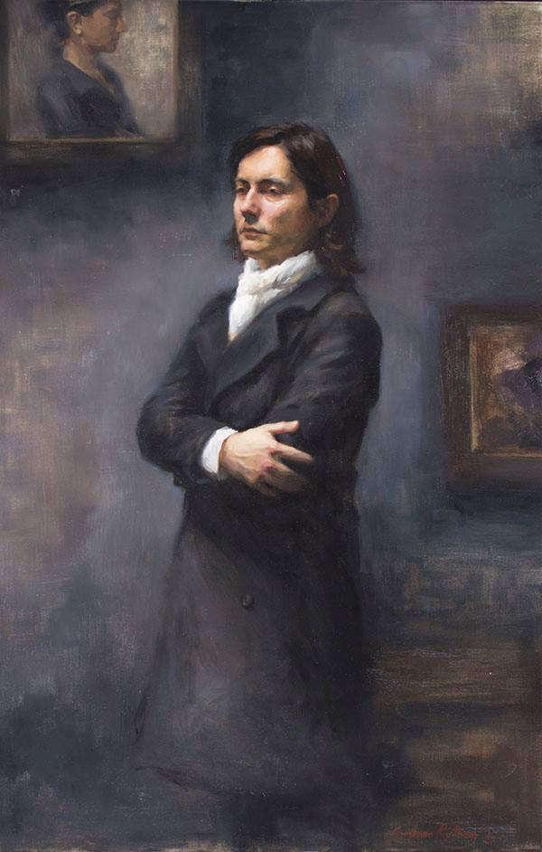 Portrait of Sanjin by artist Stephanie Kullberg.