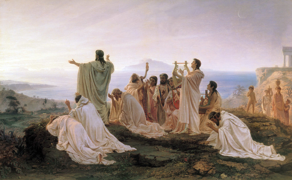 Pythagoreans celebrate sunrise, painting by Fyodor Bronnikov (1827–1902).