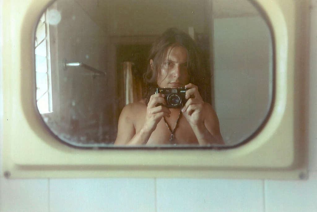 Bathroom self portrait. Photo: Sanjin Đumišić.
