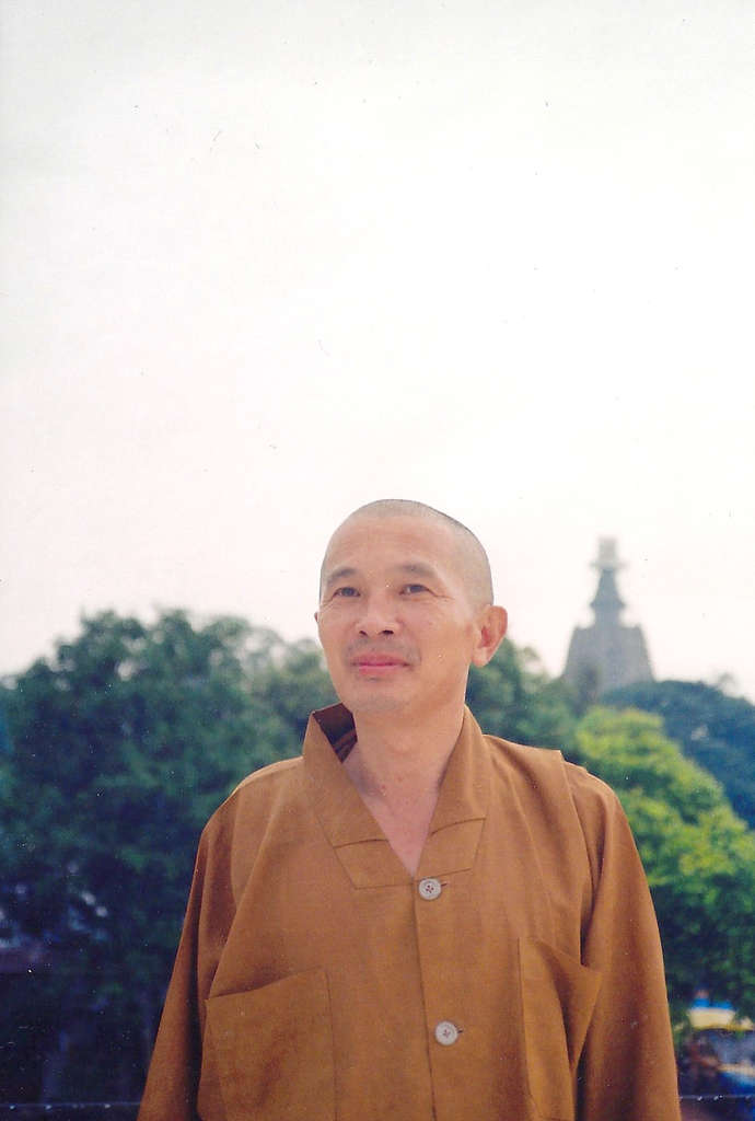 Taiwanese monk in Bodhgaya. Photo: Sanjin Đumišić.