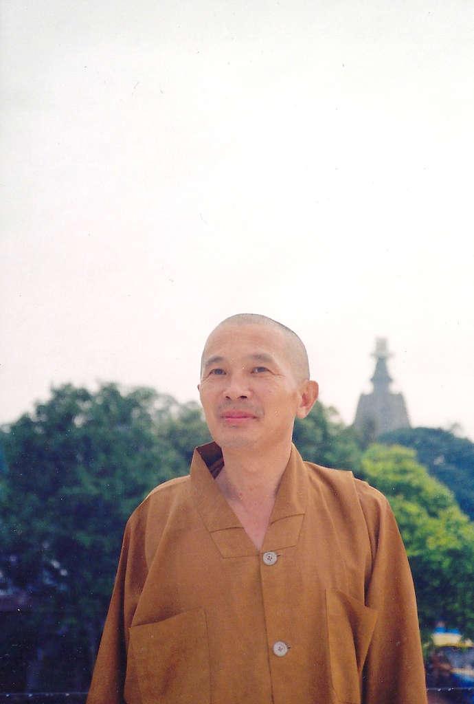 Taiwanese monk in Bodhgaya. Photo: Sanjin Đumišić.