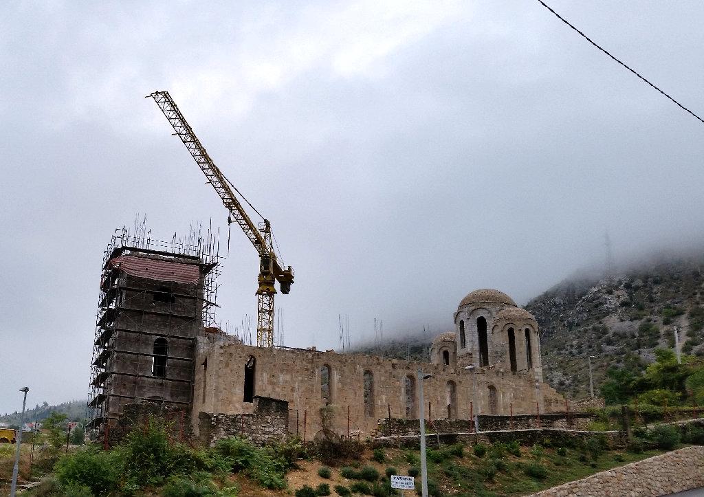 Reconstruction of Orthodox church in Mostar. Photo: Sanjin Đumišić.