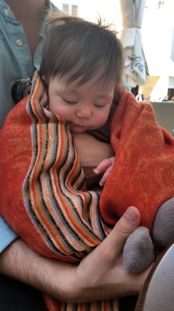 Baby Florens swept in scarf- Photo: Lisa Sinclair.