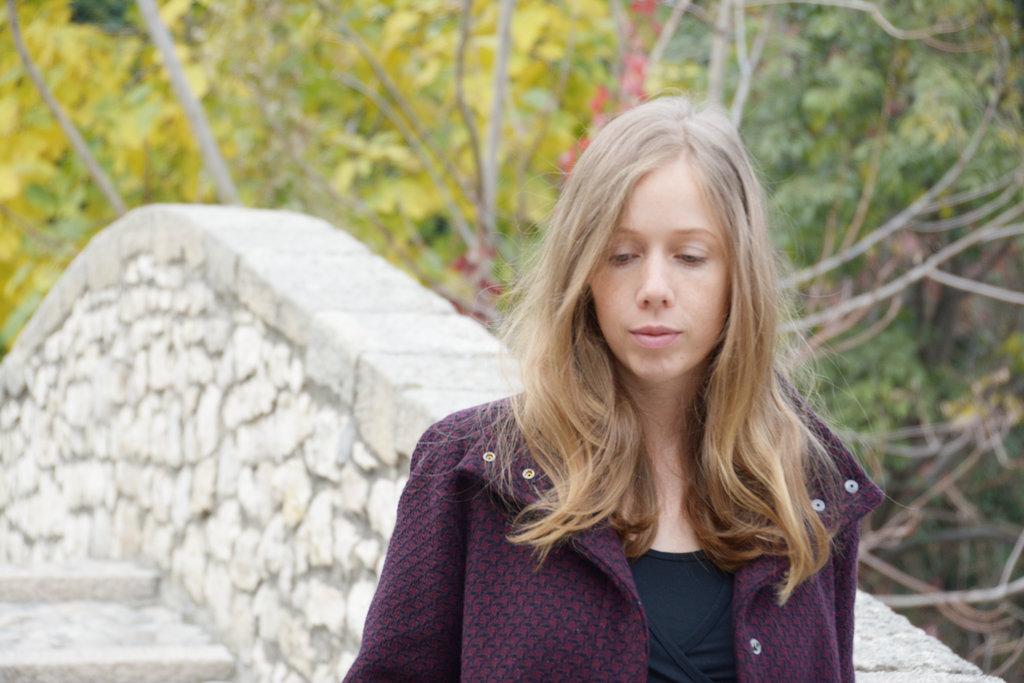 Lisa Sinclair at Kriva Ćuprija. Photo: Sanjin Đumišić.