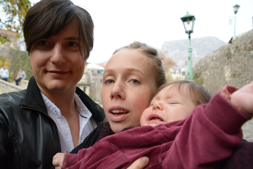 Traveling with a baby. Sanjin, Lisa, Florens. Photo: Sanjin Đumišić..