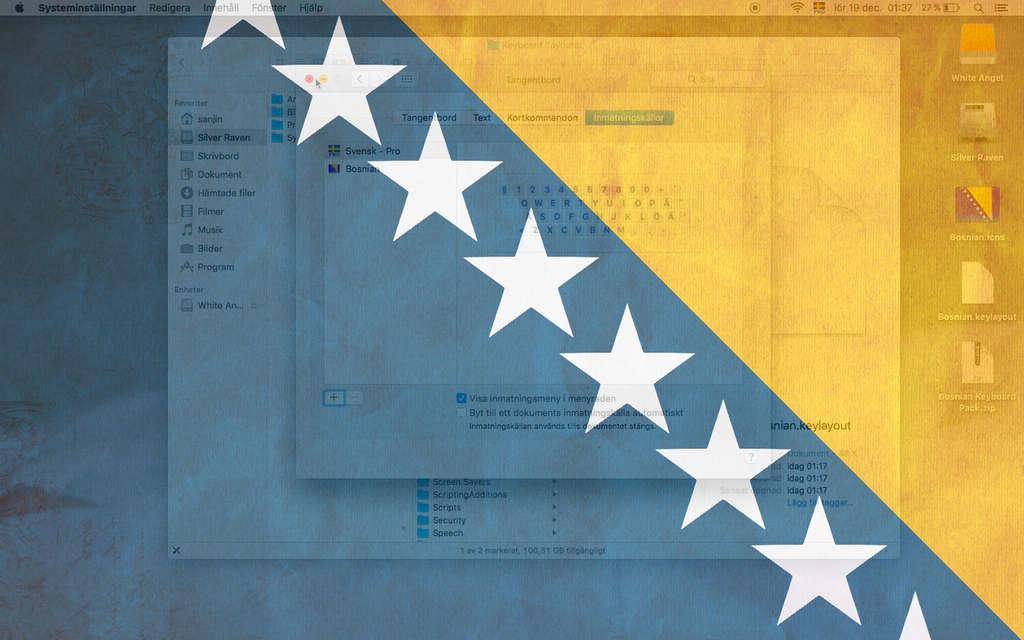 Bosnian keybord layout on Mac OS