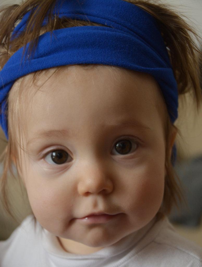 Hair, bandana on baby Florens. Photo: Sanjin Đumišić.
