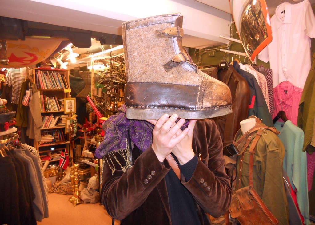 Big snow shoe. Photo: Lisa Sinclair.