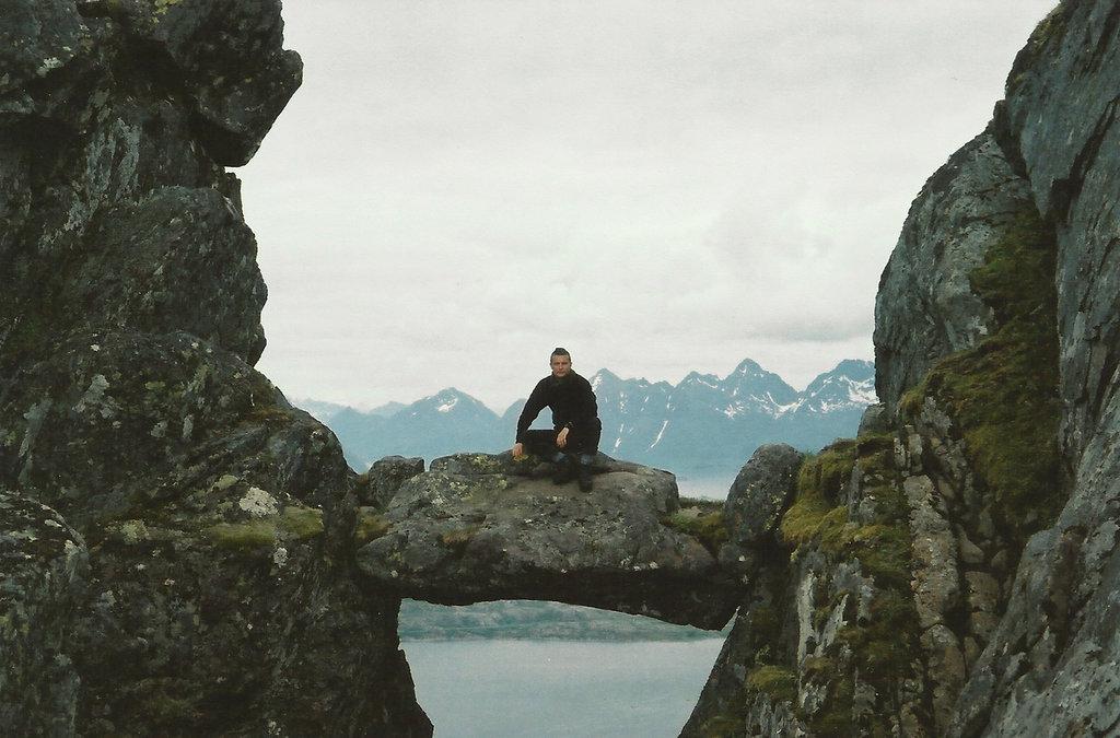 Sanjin Đumišić, Lofoten mountain. Photo: Lisa Sinclair.