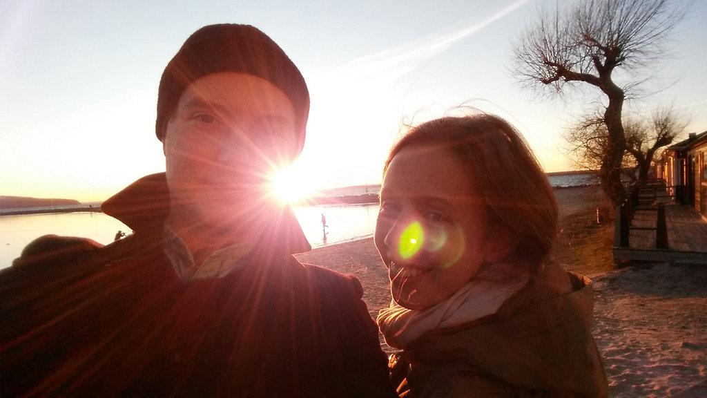 Sanjin and Lisa in Gränna.
