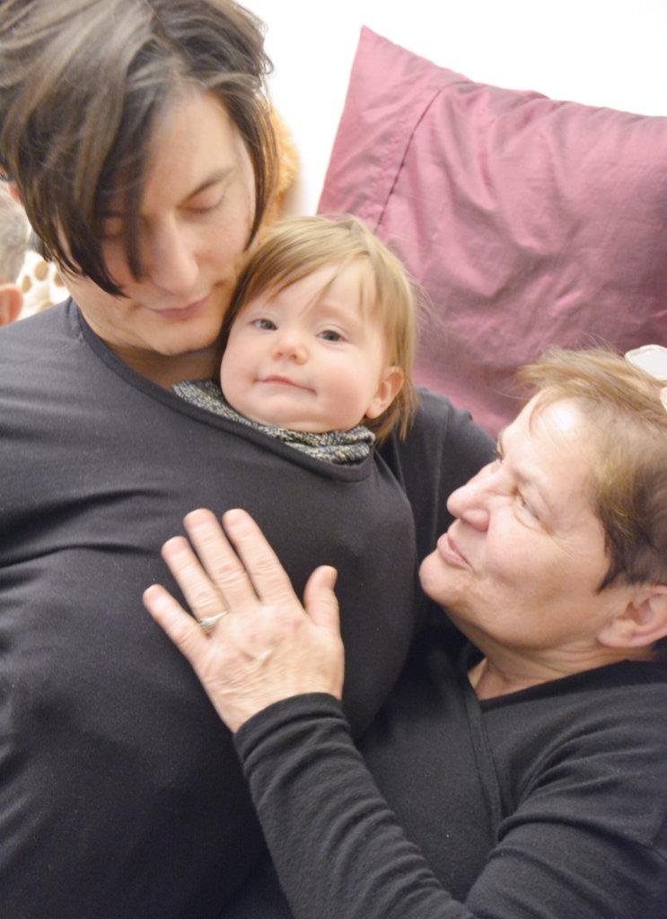Three generations. Photo: Lisa Sinclair.