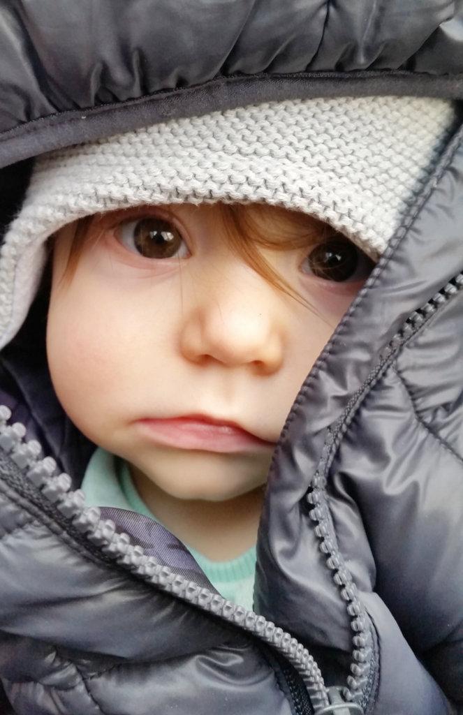Baby Florens contemplative portrait. Photo: Sanjin Đumišić.