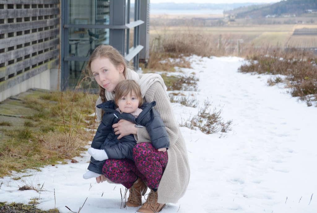 Lisa with Florens at Fjärås Bräcka in March. Photo: Sanjin Đumišić.