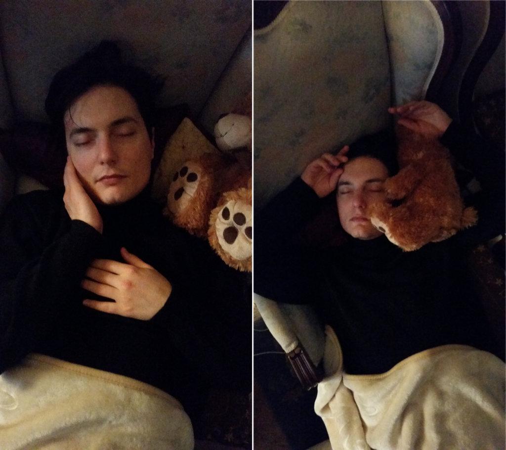 Sanjin sleeping. Photo: Lisa Sinclair.