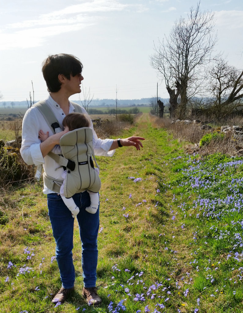 Sanjin with Florens in south Öland. Photo: Lisa Sinclair.