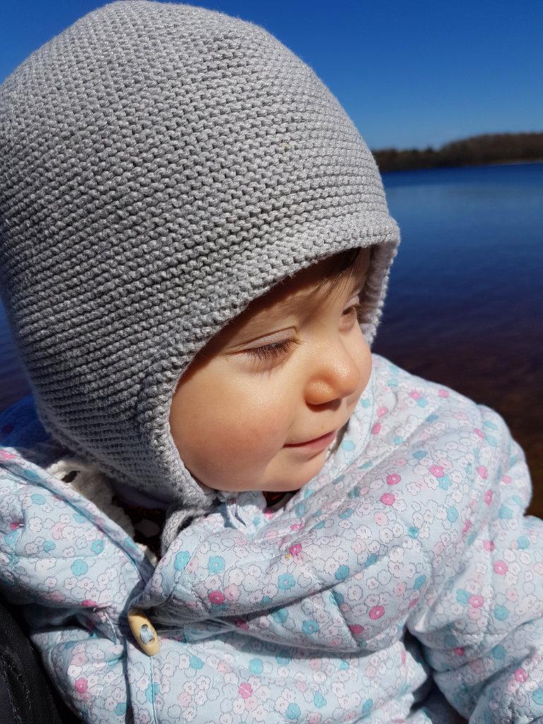 Baby Florens at lake Lygnern. Photo: Sanjin Đumišić.