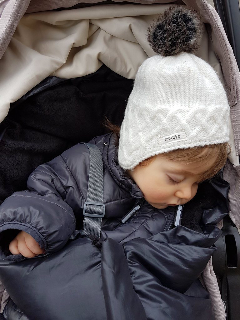 Baby Florens sleeping in the stroller. Photo: Sanjin Đumišić.